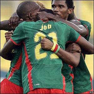 Cameroon celebrate