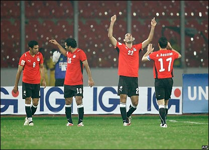 Egypt's players celebrate