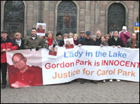 Supporters of Gordon Park hold vigil
