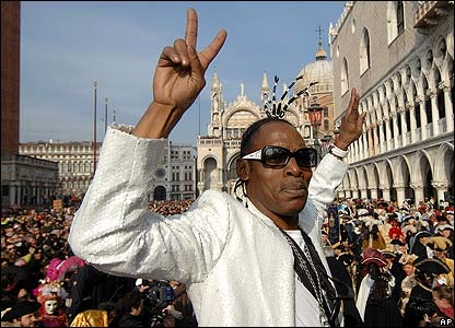 US rapper Coolio at the carnival