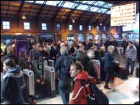 Passengers at Bristol Temple Meads