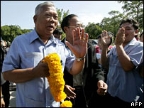 Mr Samak on the campaign trail in Bangkok in December 2007