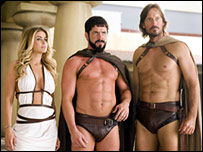Carmen Electra, Sean Maguire and Kevin Sorbo in Meet the Spartans