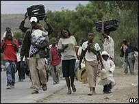 People fleeing Naivasha