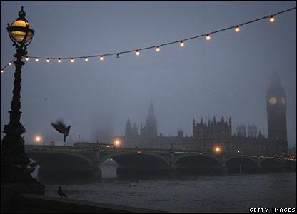 London in the fog