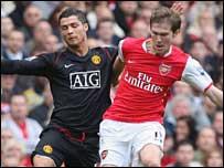 Cristiano Ronaldo and Alex Hleb