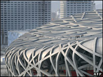 Beijing's Olympic stadium, 22/01/08