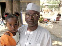 Zubairu Yakubu and daughter Hauwwa