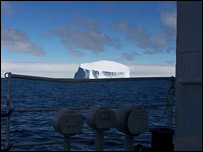 An iceberg on the horizon