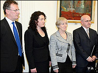 Mike Nesbitt, Patricia MacBride, Bertha McDougall and Brendan McAllister