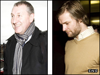Terry Butcher (left) and Steven Pressley at Hampden