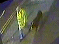 CCTV footage of the man and his dog