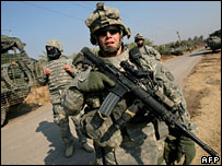 US troops in Iraq (file image)