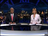 Sir Trevor McDonald and Julie Etchingham