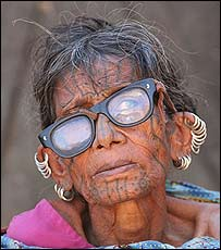 Elderly Hindu woman