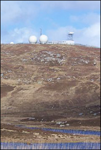 QinetiQ's rocket range tracking station, South Uist. (Pic: Norman Campbell)