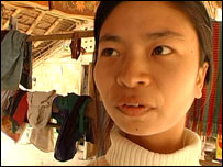 Kayan woman without neck rings