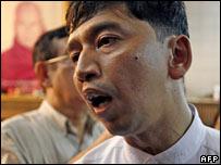 Burmese activist Min Ko Naing, file image