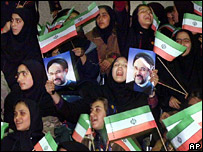 Iranian women supporters of Mohammad Khatami (2000)