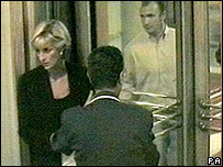 Princess Diana followed through revolving doors by Kieran Wingfield