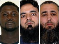 (l to r) Basiru Gassama, Mohammed Irfan and Hamid Elasmar