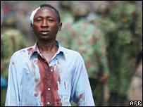 Wounded Kikuyu man