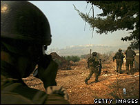 Israeli forces cross into Lebanon, August 2005