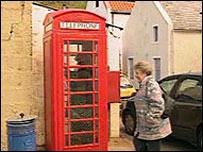 Penicuik phone box