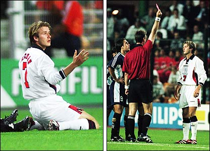 David Beckham is dismissed for his flick on Diego Simeone