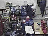 CCTV image from the raid