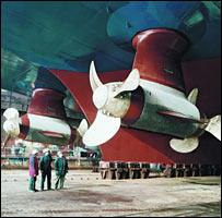 Azimuth thrusters (copyright: Siemens)