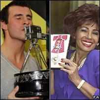 Joe Calzaghe and Shirley Bassey