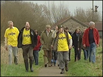 Campaigners on the Gwent Levels