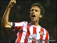 Rade Prica (left) celebrates Sunderland's crucial second