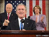 George W. Bush durante el discurso sobre el estado de la nación (28.01.08)