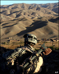 Foreign soldier in Helmand, Afghanistan