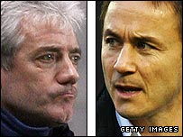 Kevin Keegan and Dennis Wise