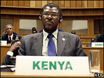 Kenyan Foreign Minister Moses Wetangula in Addis Ababa (27 January 2007)