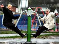 Play area for older people