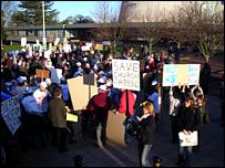 School protesters