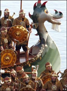 Vikings on replica boat