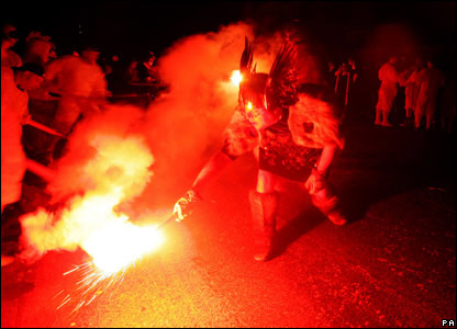 Fire eating Viking