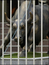 Mumbai stock exchange bull