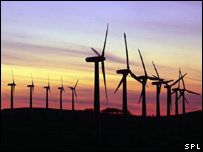 Wind turbines (Science Photo Library)