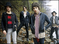 Max Rafferty (second left) and The Kooks