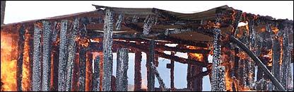Kikuyu house on fire