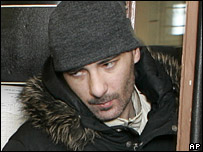 Vasily Aleksanian leaves a court hearing (30/01/2008)