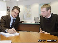 England manager Fabio Capello (right) and Stuart Pearce