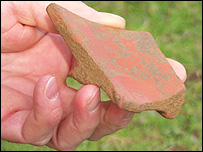 Piece of 1st century dish discovered at Calstock