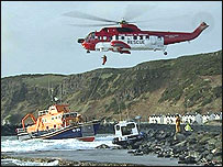 They have been assisted by a Garda rescue helicopter.